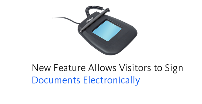 New Feature Allows Visitors to Sign Documents Electronically