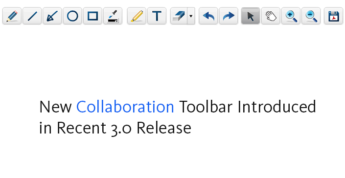 New Collaboration Toolbar Introduced in Recent 3.0 Release