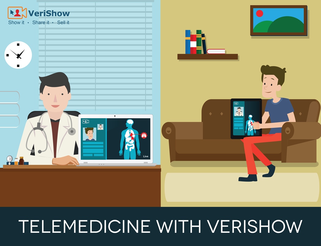 Live video conference with VeriShow Telehealth Solution