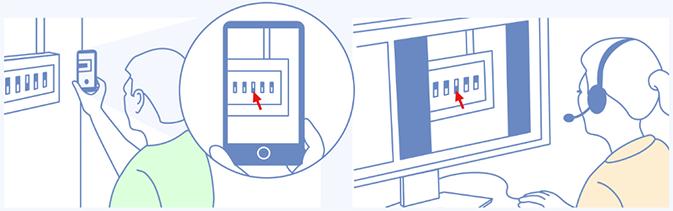 VeriShare - Customer showing a device to an