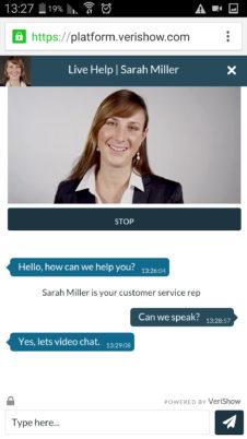 Webcam chat mobile
